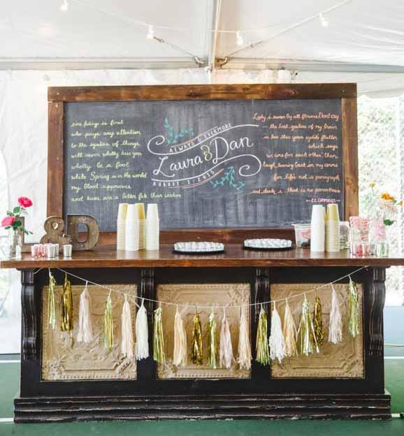 свадебный мини-бар